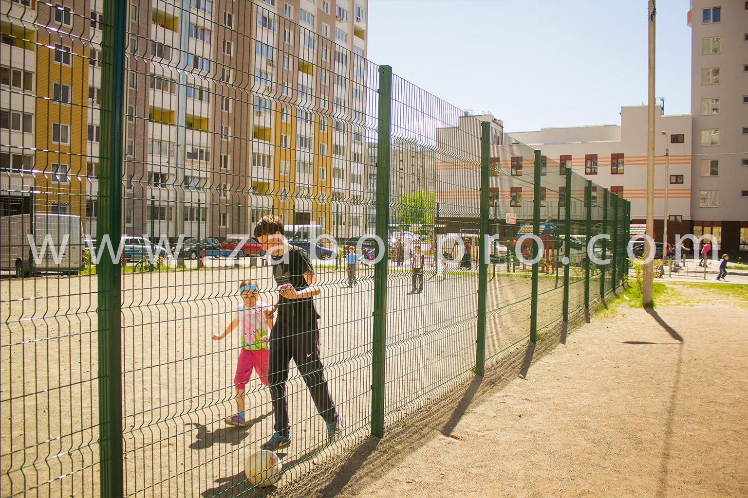 ограждение многоквартирного дома, спортивной и детской площадок-0005