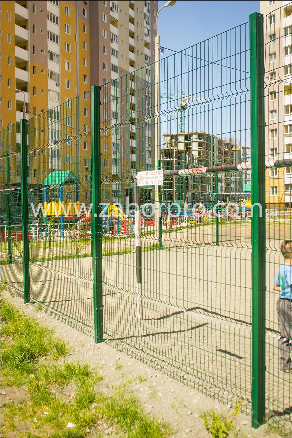ограждение многоквартирного дома, спортивной и детской площадок-0010
