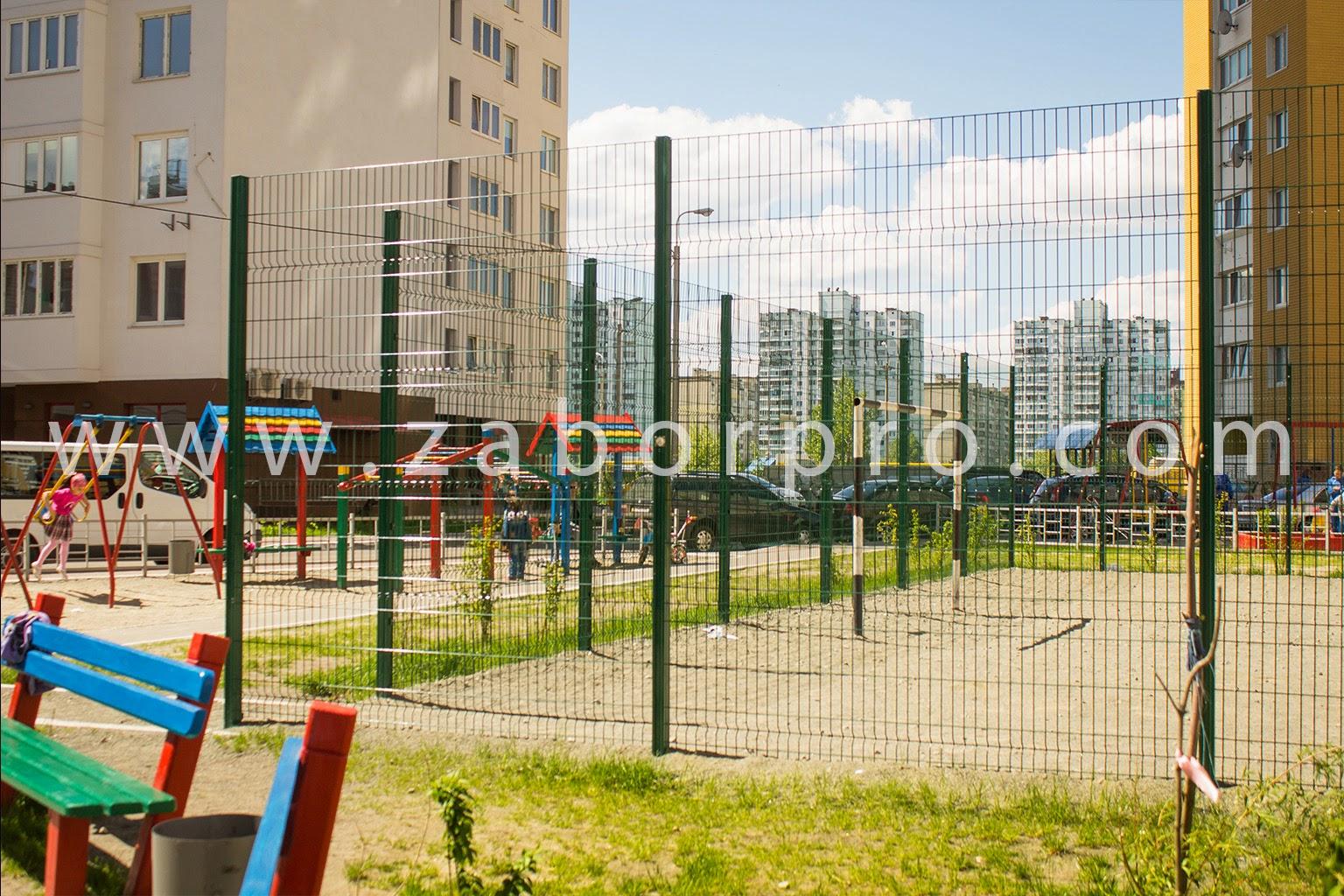 ограждение многоквартирного дома, спортивной и детской площадок-0013