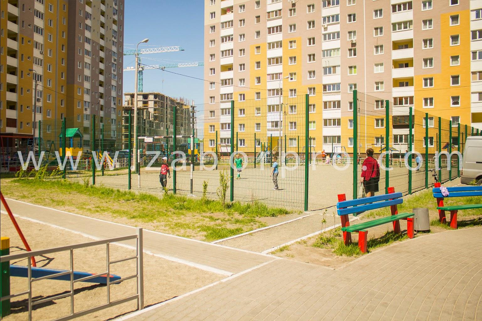 ограждение многоквартирного дома, спортивной и детской площадок-0028
