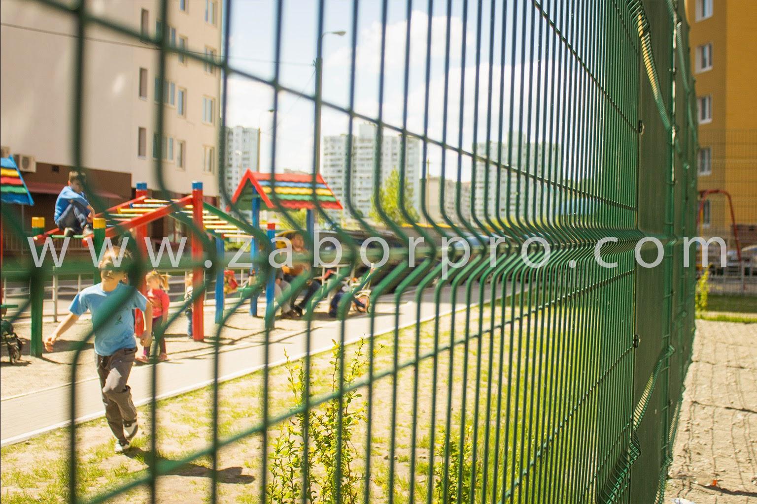 ограждение многоквартирного дома, спортивной и детской площадок-0030