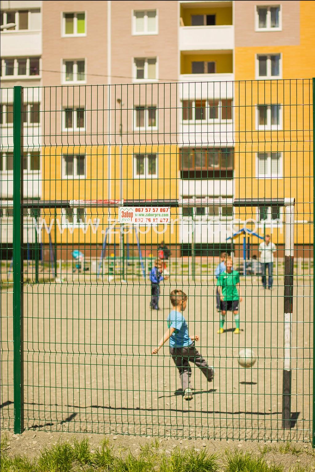 ограждение многоквартирного дома, спортивной и детской площадок-0042