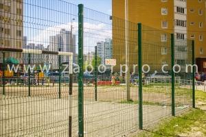 ограждение многоквартирного дома, спортивной и детской площадок-0001