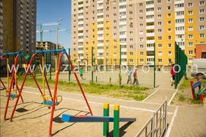 ограждение многоквартирного дома, спортивной и детской площадок-0029
